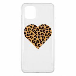 Чехол для Samsung Note 10 Lite Heart with leopard hair