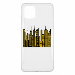 Чехол для Samsung Note 10 Lite High-rise buildings silhouette