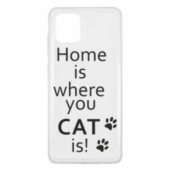 Чехол для Samsung Note 10 Lite Home is where your Cat is!