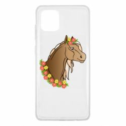 Чехол для Samsung Note 10 Lite Horse and flowers art