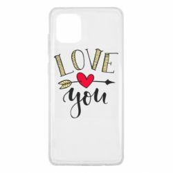 Чохол для Samsung Note 10 Lite I love you and heart