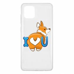 Чехол для Samsung Note 10 Lite I love you corgi