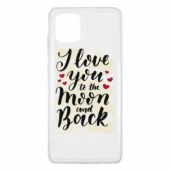 Чохол для Samsung Note 10 Lite I love you to the moon