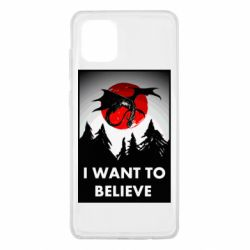 Чехол для Samsung Note 10 Lite I want to BELIEVE poster
