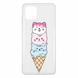 Чехол для Samsung Note 10 Lite Ice cream kittens