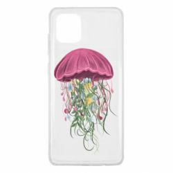 Чехол для Samsung Note 10 Lite Jellyfish and flowers