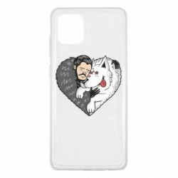 Чохол для Samsung Note 10 Lite John snow and a wolf named ghost