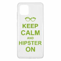 Чехол для Samsung Note 10 Lite Keep calm an hipster on
