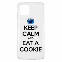 Чехол для Samsung Note 10 Lite Keep Calm and Eat a cookie