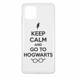 Чехол для Samsung Note 10 Lite KEEP CALM and GO TO HOGWARTS