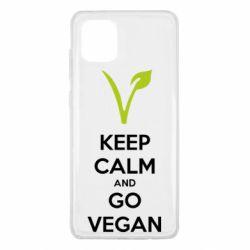 Чехол для Samsung Note 10 Lite Keep calm and go vegan