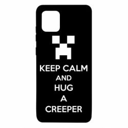 Чехол для Samsung Note 10 Lite KEEP CALM and HUG A CREEPER