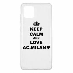 Чохол для Samsung Note 10 Lite Keep calm and love AC Milan