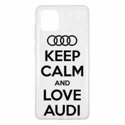 Чехол для Samsung Note 10 Lite Keep Calm and Love Audi