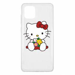 Чехол для Samsung Note 10 Lite Kitty с букетиком