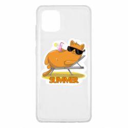 Чохол для Samsung Note 10 Lite Котик на пляжі