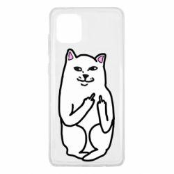 Чехол для Samsung Note 10 Lite Кот с факом