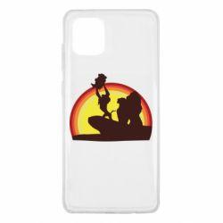 Чехол для Samsung Note 10 Lite Lion king silhouette