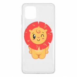 Чехол для Samsung Note 10 Lite Lion with orange mane