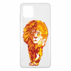 Чохол для Samsung Note 10 Lite Lion yellow and red