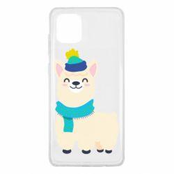 Чехол для Samsung Note 10 Lite Llama in a blue hat