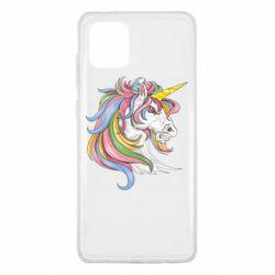 Чохол для Samsung Note 10 Lite Кінь з кольоровою гривою