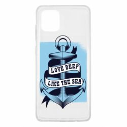 Чехол для Samsung Note 10 Lite Love deep like the sea