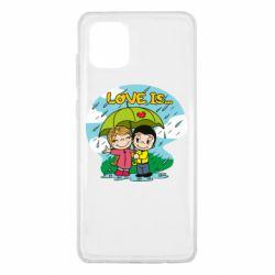 Чохол для Samsung Note 10 Lite Love is ... in the rain