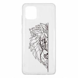 Чохол для Samsung Note 10 Lite Low poly lion head
