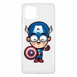 Чехол для Samsung Note 10 Lite Маленький Капитан Америка