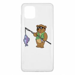 Чохол для Samsung Note 10 Lite Ведмідь ловить рибу