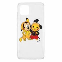 Чехол для Samsung Note 10 Lite Mickey and Pikachu