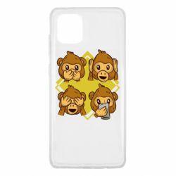 Чехол для Samsung Note 10 Lite Monkey See Hear Talk