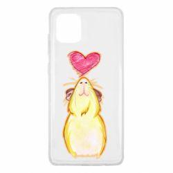 Чохол для Samsung Note 10 Lite Морська свинка і сердечко