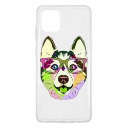 Чохол для Samsung Note 10 Lite Multi-colored dog with glasses