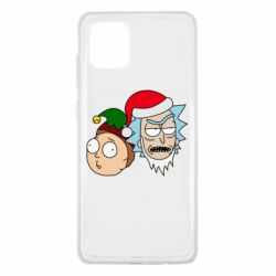 Чехол для Samsung Note 10 Lite New Year's Rick and Morty