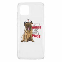 Чехол для Samsung Note 10 Lite Nurse loves pugs