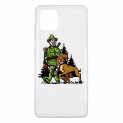 Чохол для Samsung Note 10 Lite Мисливець з собакою