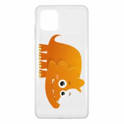 Чехол для Samsung Note 10 Lite Orange dinosaur