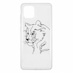 Чехол для Samsung Note 10 Lite Outline drawing of a lion