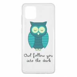 Чехол для Samsung Note 10 Lite Owl follow you into the dark