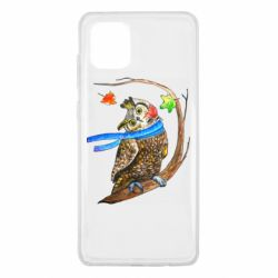Чехол для Samsung Note 10 Lite Owl with a watercolor scarf