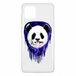 Чехол для Samsung Note 10 Lite Panda on a watercolor stain