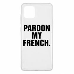 Чехол для Samsung Note 10 Lite Pardon my french.