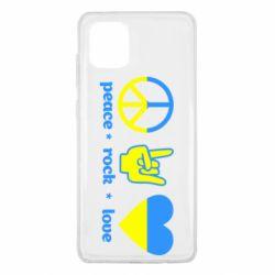 Чехол для Samsung Note 10 Lite Peace, Rock, Love