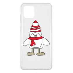 Чехол для Samsung Note 10 Lite Penguin in the hat and scarf
