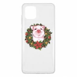 Чохол для Samsung Note 10 Lite Pig with a Christmas wreath