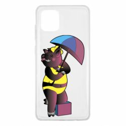Чохол для Samsung Note 10 Lite Pig with umbrella