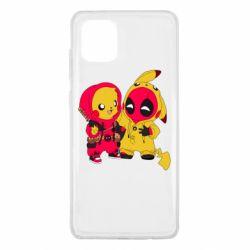 Чехол для Samsung Note 10 Lite Pikachu and deadpool