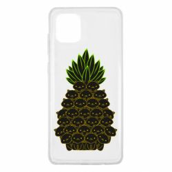 Чехол для Samsung Note 10 Lite Pineapple cat